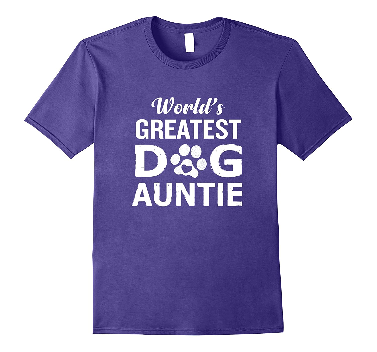 Worlds Greatest Dog Auntie T-Shirt Funny Animal Lover-FL