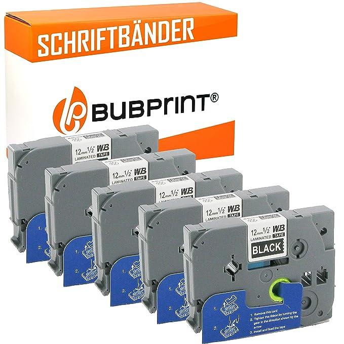 Bubprint 3 Schriftb/änder kompatibel f/ür Brother TZE-521 TZE521 f/ür P-Touch 1280 2430PC 2730VP 3600 9500PC 9700PC D400VP D600VP H100LB H105 P700 P750W