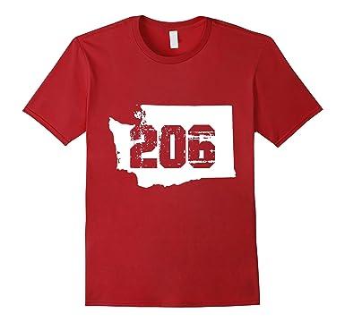 Amazoncom Seattle Washington Area Code TShirt Clothing - 206 area code