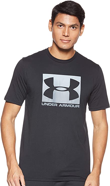 Under Armour Men's Boxed Sportstyle Short Sleeve Shirt, Black (001)/Graphite, Medium