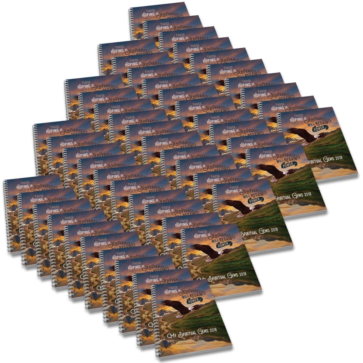 ''My Spiritual Gems'' 2018 Meeting Workbook Companion with JW yeartext - [US$149.99] 50-pack