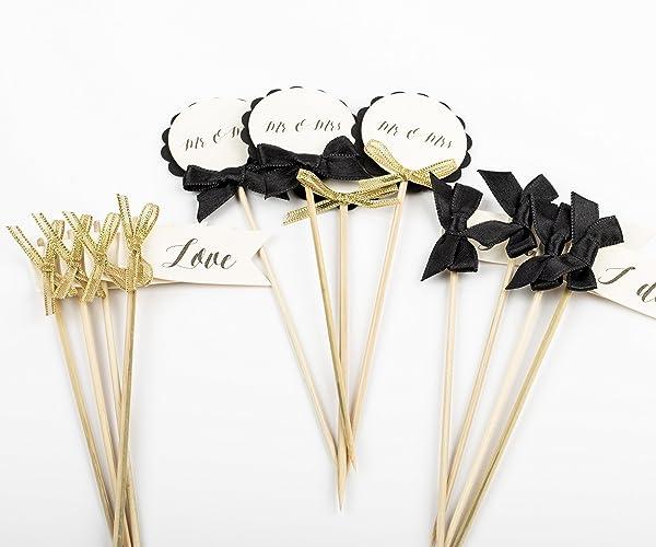 Black And Gold Engagement Party Decorations Bridal Shower Bachelorette Wedding Decor