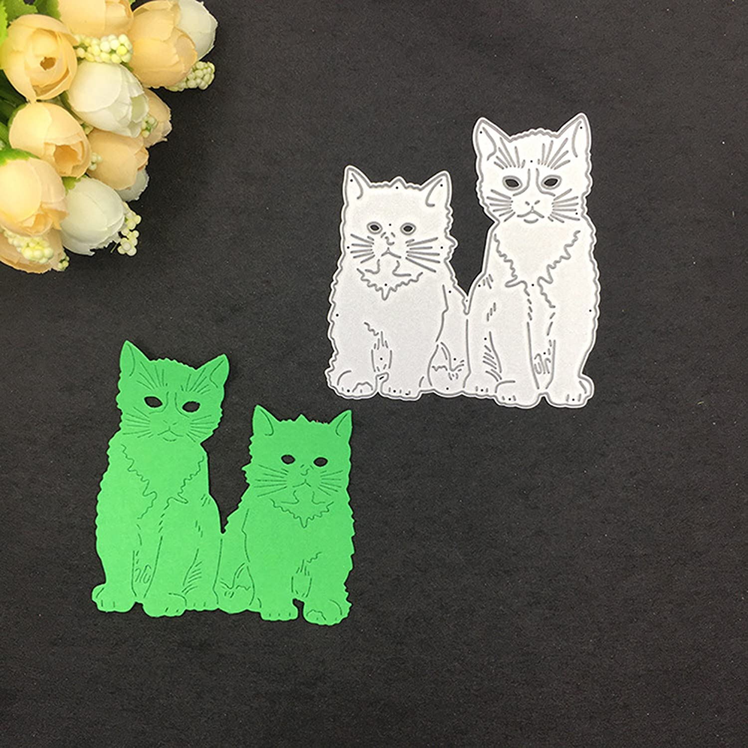 Cute Cat Metal Cutting Dies Scrapbooking Embossing Cards Album Art Stencil NEW