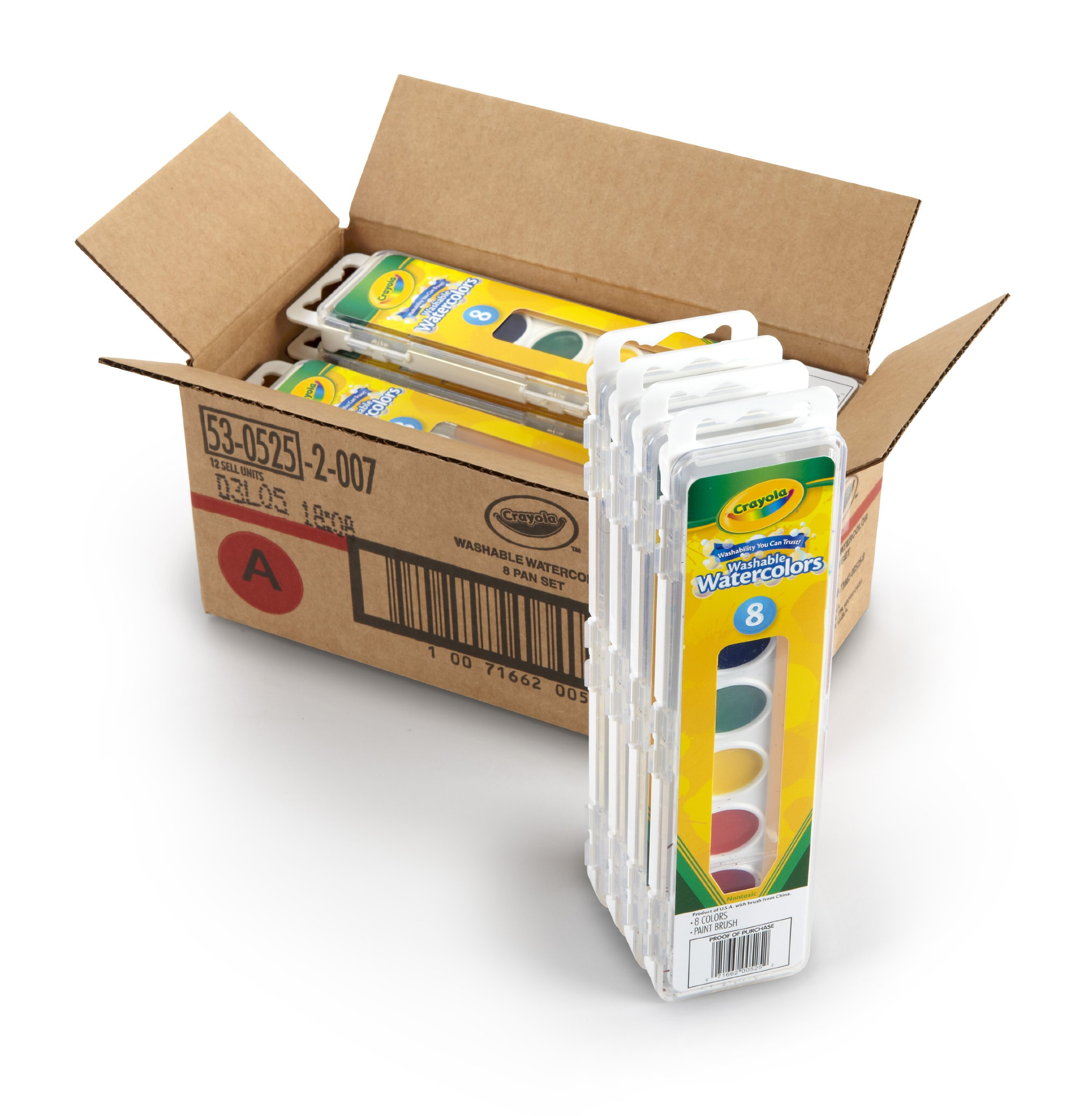 Crayola 53-0525-1 8 Pan Set Washable Watercolors, 12 Pack by Crayola (Image #3)