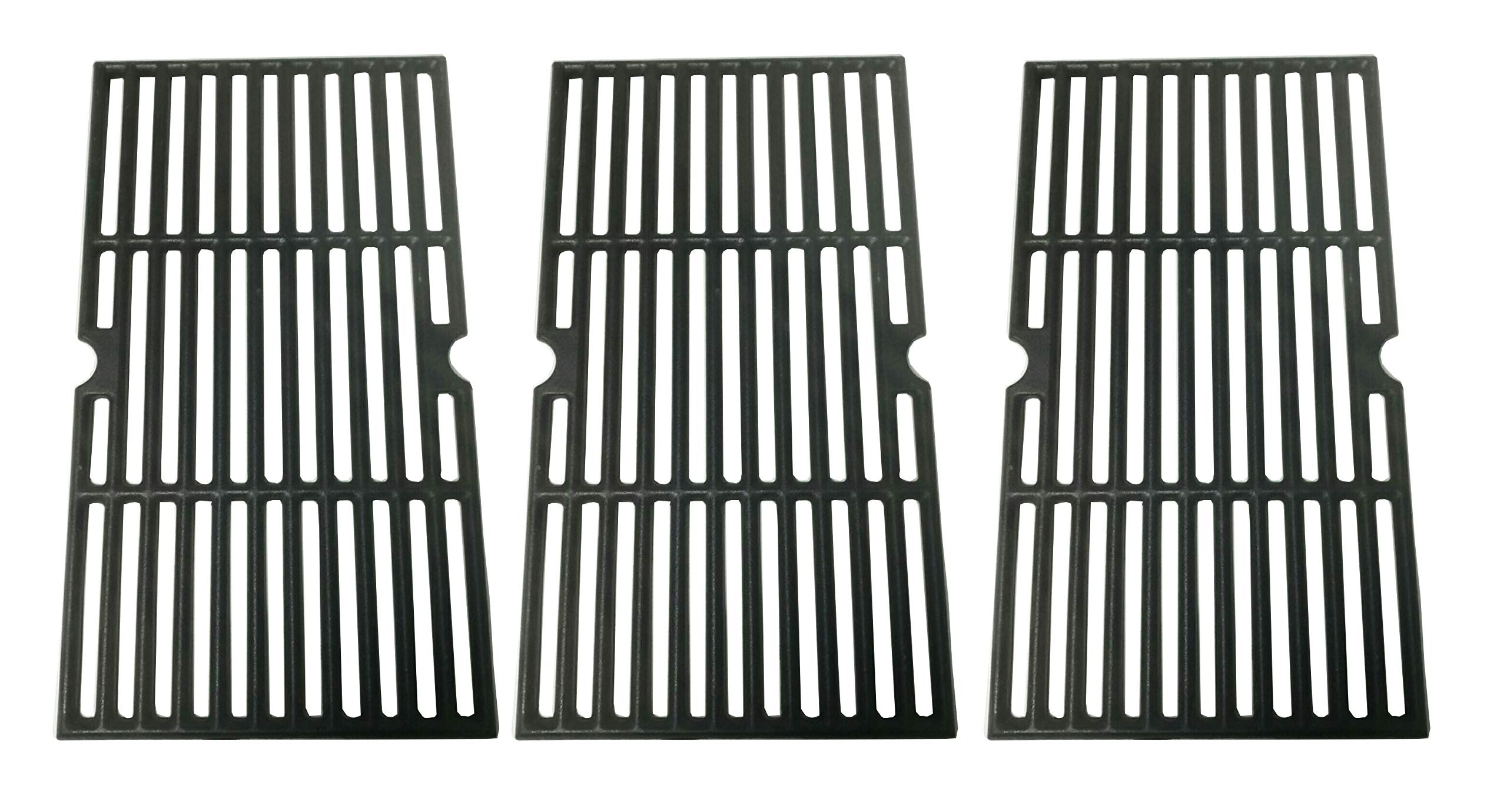 BBQration Matte Finished Cast Iron Cooking Grid for Select Charbroil Brand Gas Grill-griddles,Set of 3.(17 x 28.875 ins)