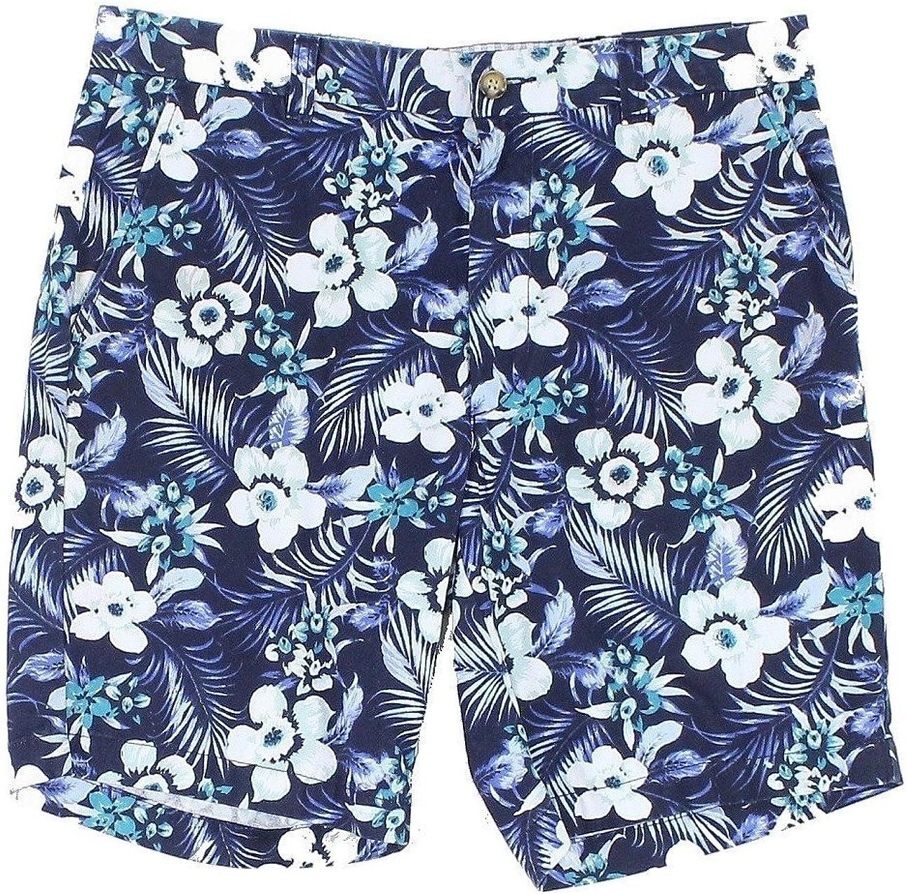 Club Room Mens Floral Print Pleated Shorts