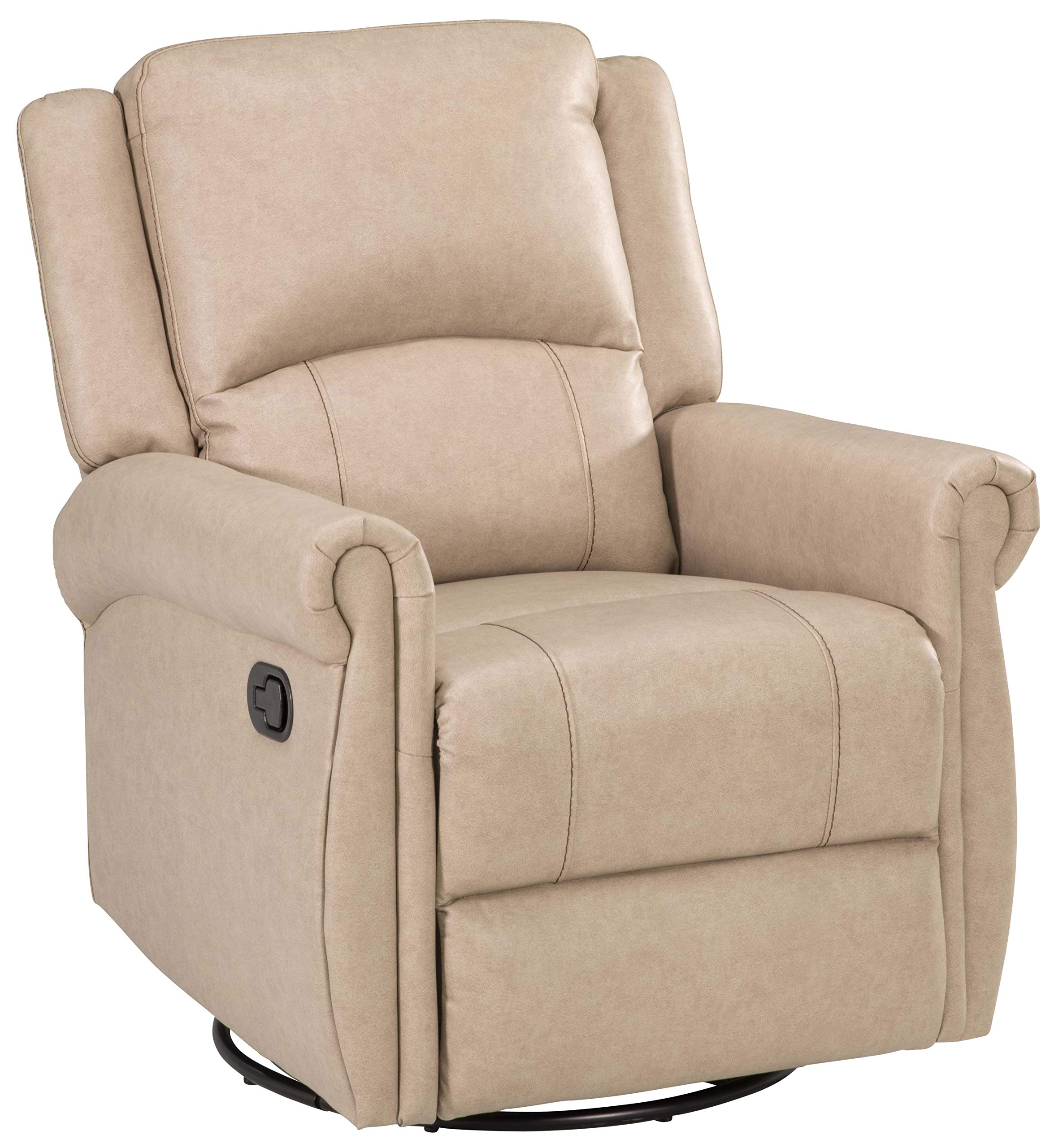 Thomas Payne 759295 Heritage Series Grantland Doeskin 2-Arm Swivel Glider Recliner by Thomas Payne
