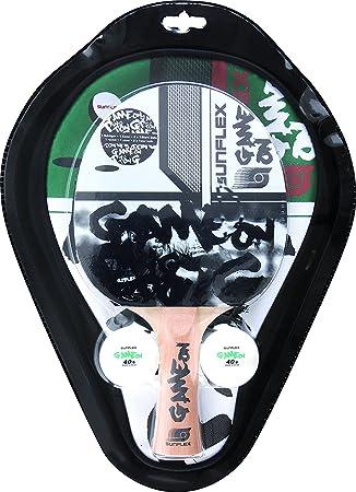 sunflex sport Game on - Raqueta de Tenis de Mesa de Juego, Unisex, 10251, weiß, Talla única: Amazon.es: Deportes y aire libre