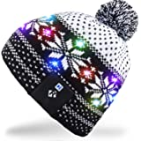 Mydeal Stylish Unisex Men Women LED Light Up Beanie Hat Knit Cap for Indoor and Outdoor, Skiing, Snowboard, Walking, Leisure, Festival, Holiday, Celebration, Parties, Birthday, Bar, Christmas Gifts