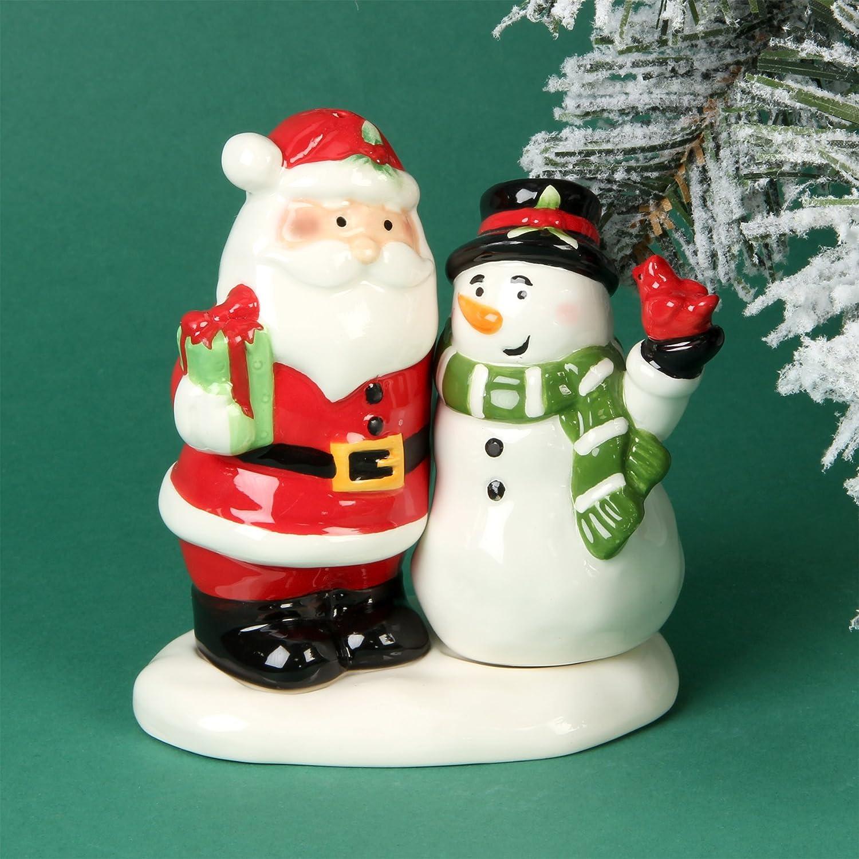 Santa & Schneemann Salz & Pfefferstreuer Weihnachten Geschenk-Set ...