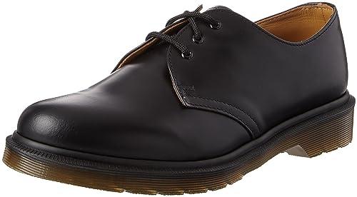 Dr. Martens 1461PW Smooth Black - Zapatos con cordones de cuero unisex PM8aom26w