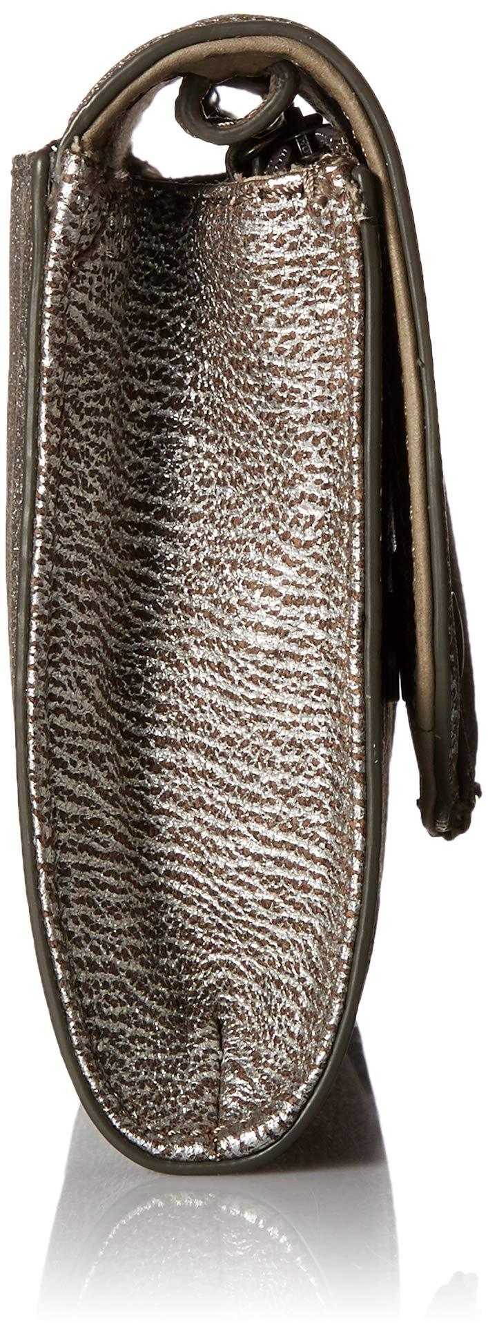 FRYE Melissa Wallet Crossbody Clutch Leather Bag, silver by FRYE (Image #3)