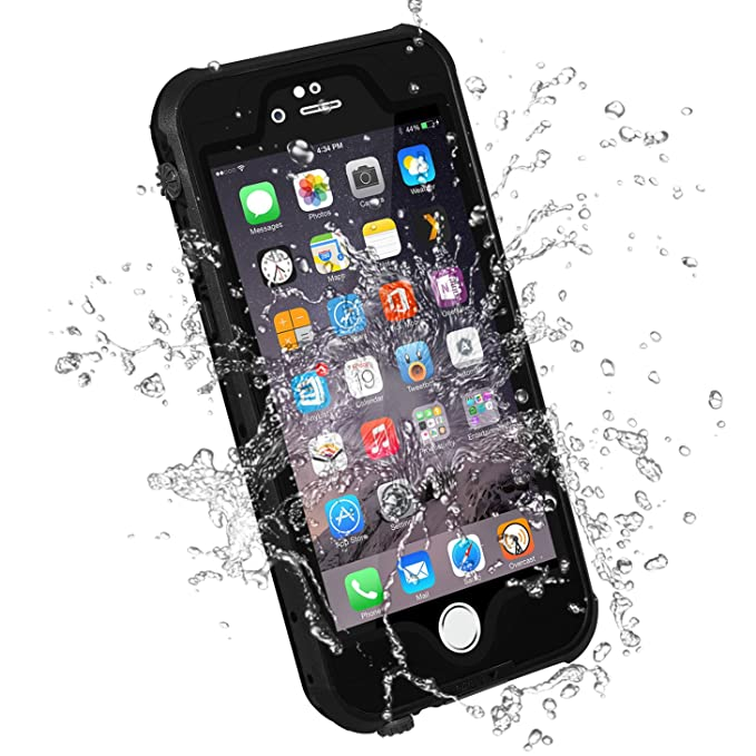 detailed look b25b0 e70a1 HESGI iPhone 6S Plus Waterproof Case, IP-68 Waterproof Shockproof Dust  Proof Snow Proof Full Body Protective Case Cover for Apple iPhone 6S Plus  ...