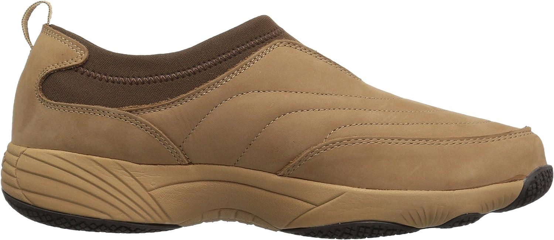 Propét Women's W3851 Wash & Wear Slip-on Ii Slip Resistant Sneaker Walking Shoe Sr Mushroom Nubuck
