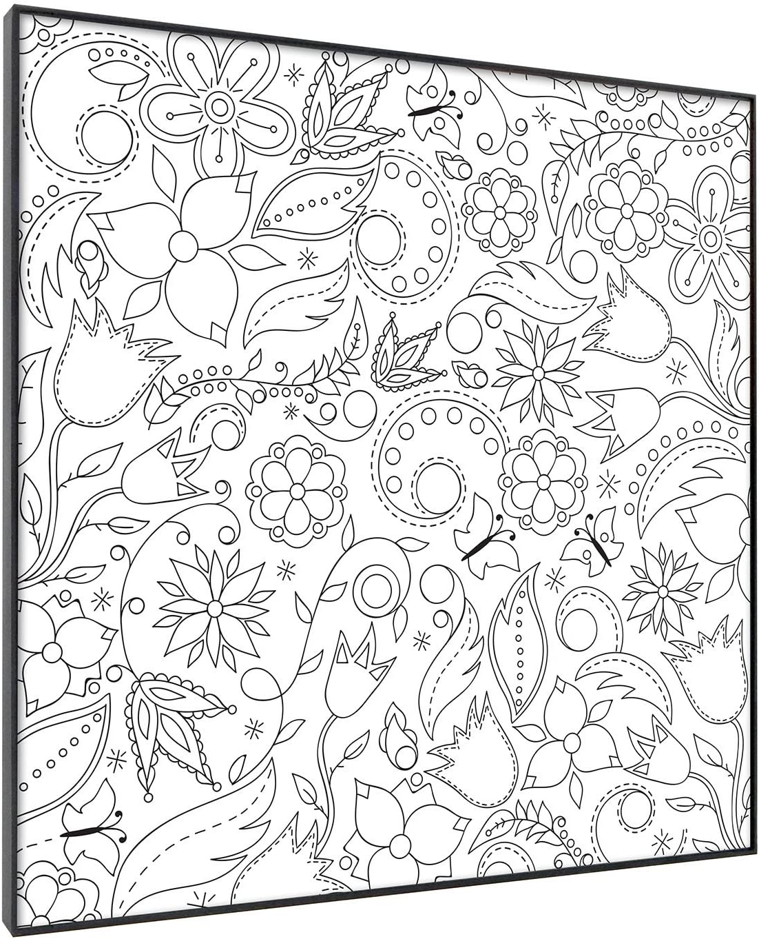 Free Printable Flower Coloring Page | 1365x1108