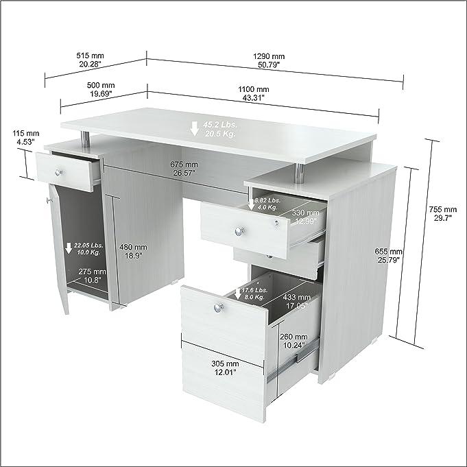 amazoncom inval es laura collection computer desk kitchen u0026 dining