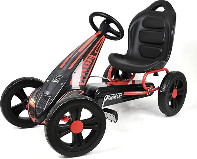 Hauck Cyclone Go Kart Pedal Vehicle With Handbrake And Adjustable Seat For Children 4 Years And Up Red Spielzeug