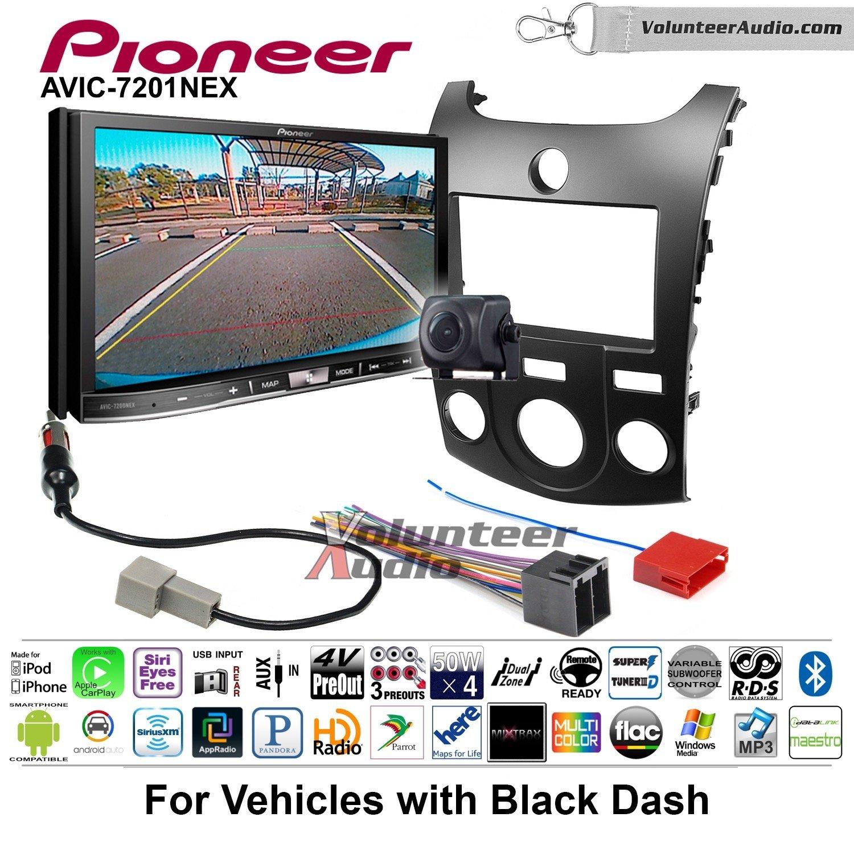 Pioneer AVIC-7201NEX Double Din Radio Install Kit with GPS Navigation Apple CarPlay Android Auto Fits 2011-2013 Kia Forte (Black)