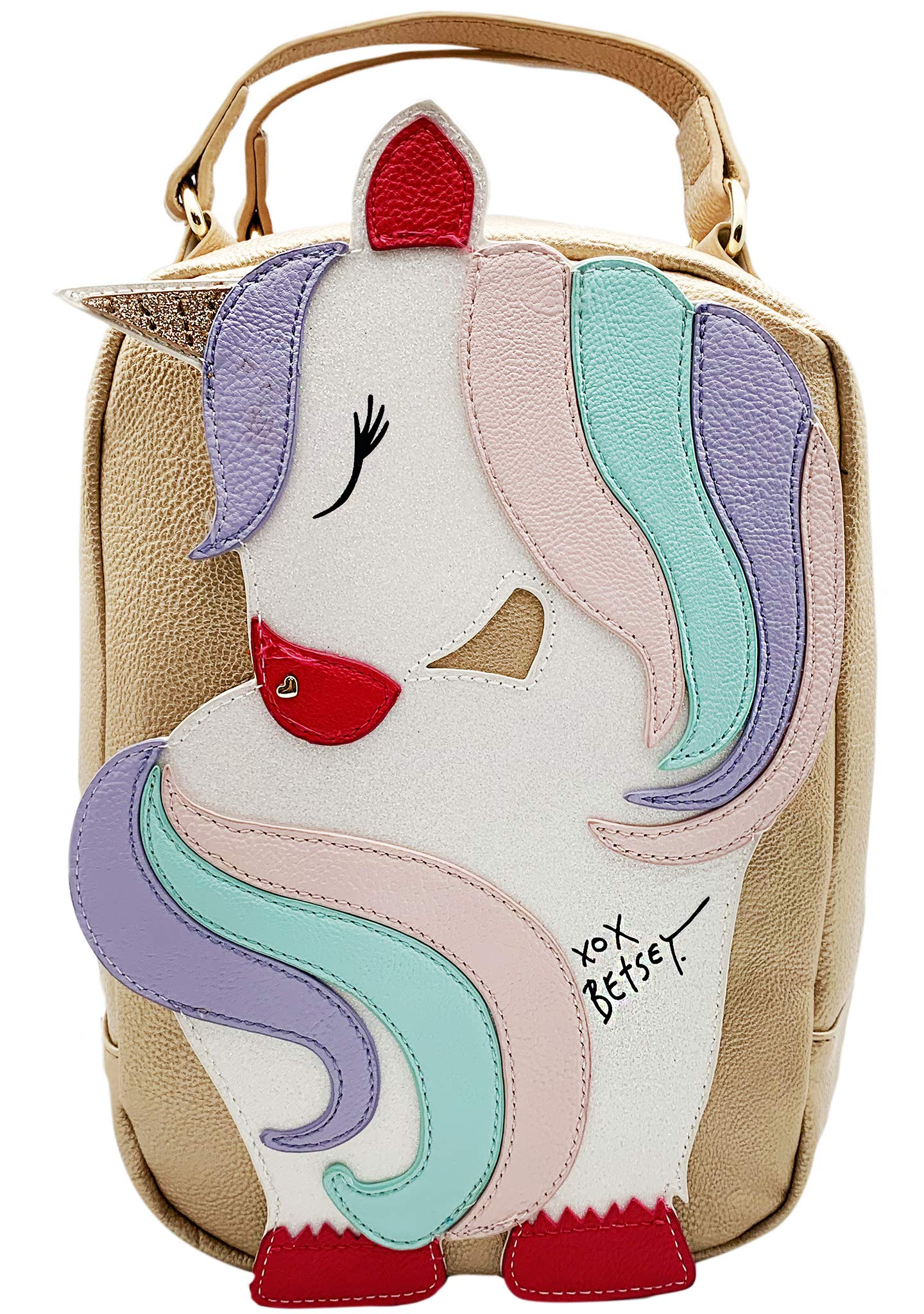 Betsey Johnson Unicorn Insulated Lunch Tote Gold Multi by Betsey Johnson