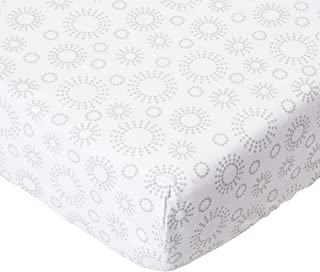 product image for SheetWorld Fitted Sheet (Fits BabyBjorn Travel Crib Light) - Grey Dot Circles - Made In USA