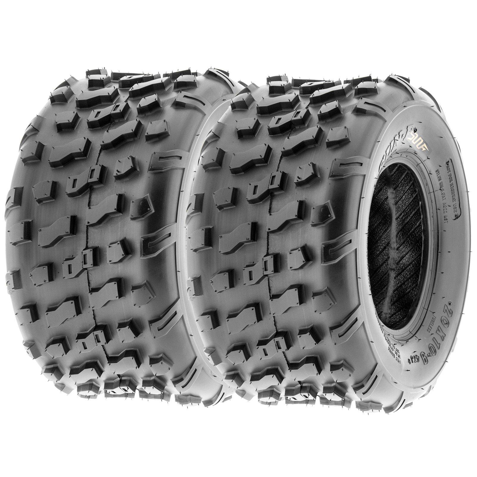 SunF Rear ATV Knobby Tires 20x10-9 20x10x9 4 PR A022 (Set pair of 2) by SunF (Image #1)