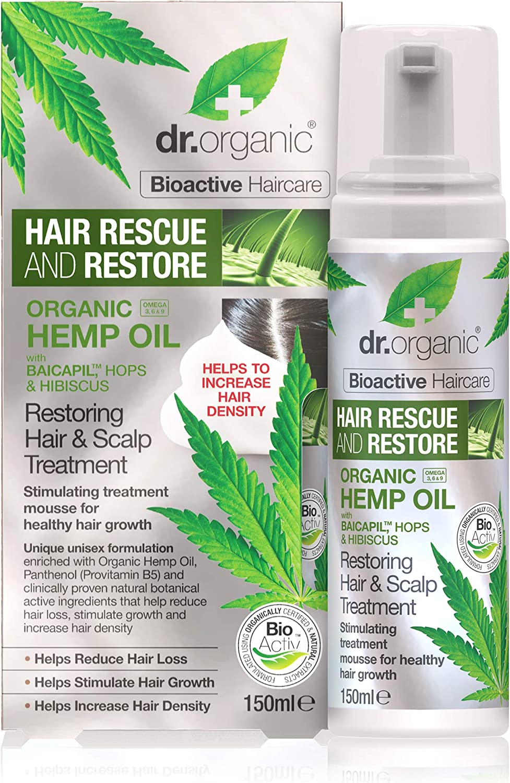 Dr Organic Hemp Oil Hair And Scalp Treatment Mousse 0 242989 Kg Amazon Co Uk Beauty