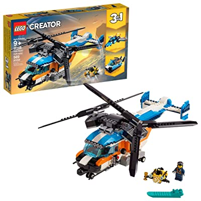 LEGO Creator 3in1 Twin Rotor Helicopter 31096 Building Kit (569 Pieces): Toys & Games
