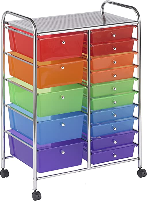 The Best Colorful Storage Cart Office School Organizer