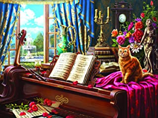 product image for Grand Piano Cat 1000 pc Jigsaw Puzzle by SUNSOUT INC