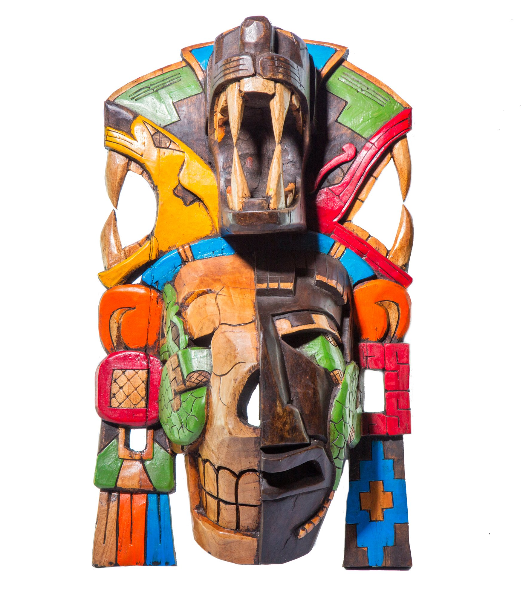 Sofia's Findings Mayan Mask - Mayan Jaguar - Half SkullGiant Mask - Premium Craft