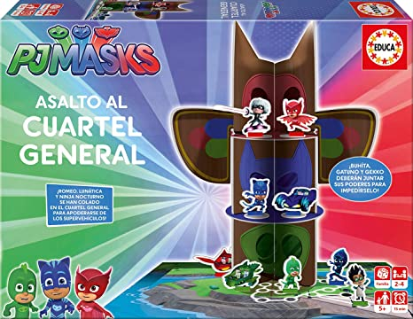 Amazon.com: Educa Borrás – PJ Masks Break-in Headquarters ...