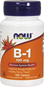 NOW FOODS Now B1 100MG, 100 Count