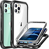Luckymore Compatible with iPhone 12 Case,Compatible with iPhone 12 Pro Shockproof Case 6.1 Inch with Screen Protector Built i