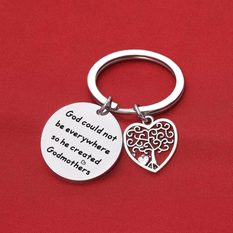 Godmother Godmother Proposal Keychain Religious Jewelry Christening Jewelry First Communion Gift Religious Gift Baptism Keychain Christening Gifts Aunt Gift Godmother Keychain