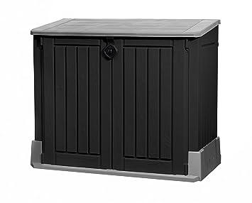 Keter 17197662 Mülltonnenbox, Store it Out Midi, schwarz, 845 L ...