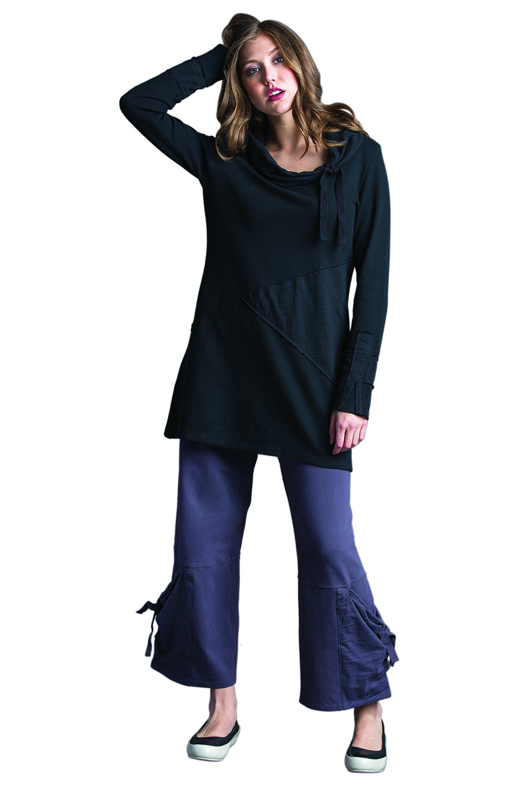 Whimsical Cowl Dress Large Market Black