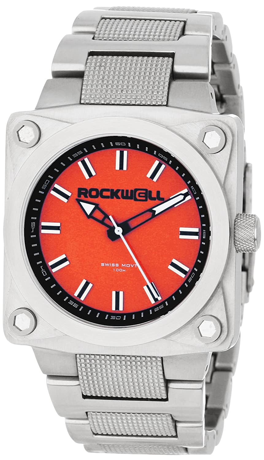 Rockwell Time Herren SF103 747 Stainless Steel Silver and Red Uhr