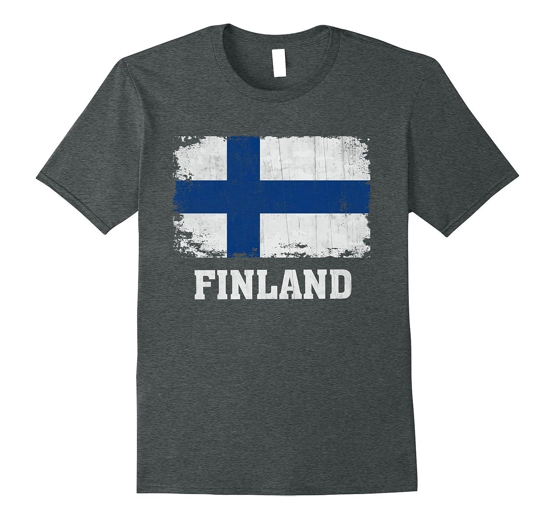 Finland Finnish Flag T-Shirt Pride Gift Shirt-Vaci