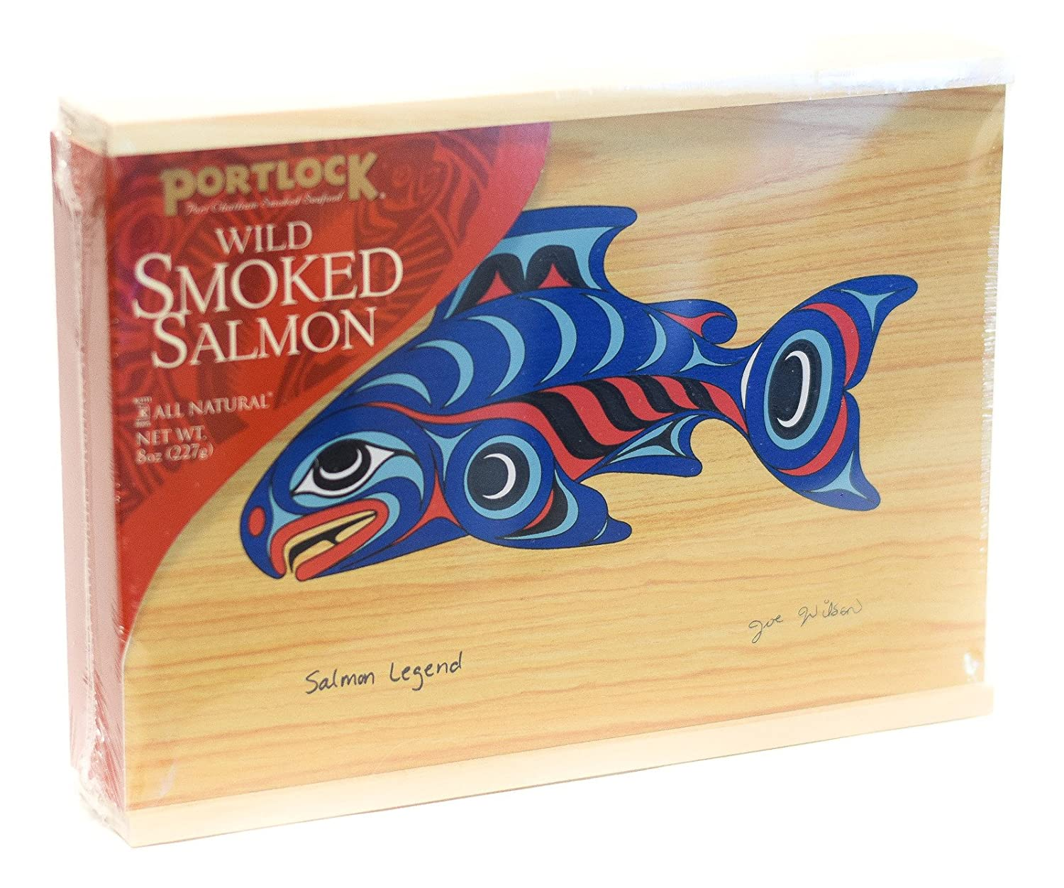 Portlock Wild Smoked Salmon In Pacific Northwest Wood Gift