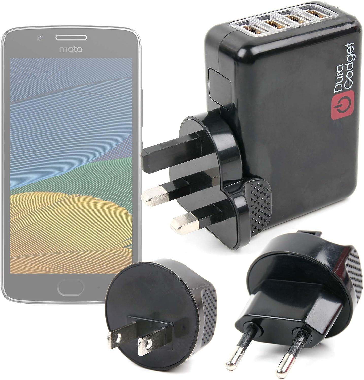 DURAGADGET Kit De Adaptadores Con Cargador Para Smartphone Lenovo/Motorola Moto E3 (3rd gen/2016) , Lenovo/Motorola Moto G5 Plus | Vernee Thor 4G: Amazon.es: Electrónica
