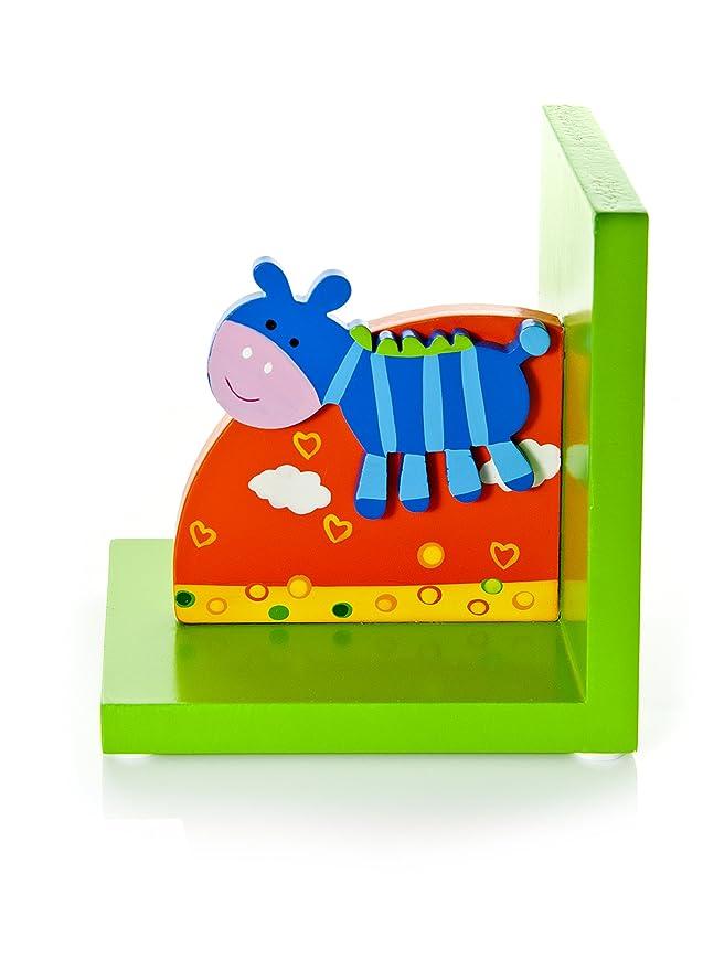 Mousehouse Gifts Sujetalibros ni/ños con cebras Azules para la habitaci/ón de los m/ás peque/ños