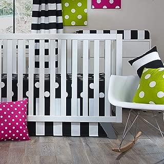 product image for Glenna Jean Apollo Crib 2 Piece Starter Set, Black/White