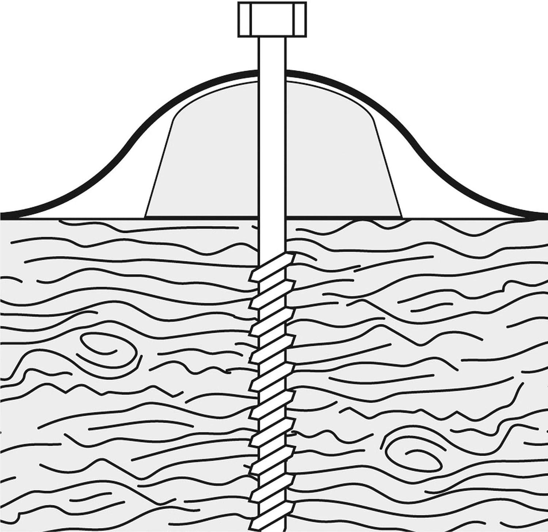 100 Stk. Haus /& Dach Abstandhalter//Kalotte f/ür Wellplatten//Welldach Sinus 177//51