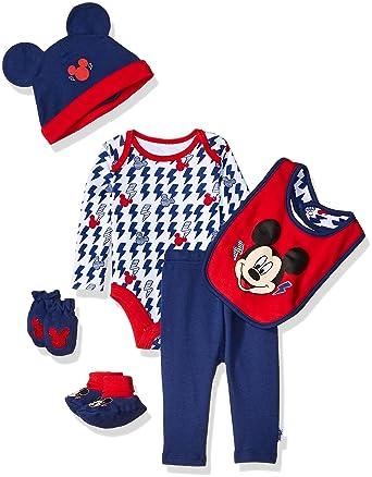 2cb8264871b2 Amazon.com  Disney Baby Boys  Mickey Mouse 6 Piece Gift Set  Clothing