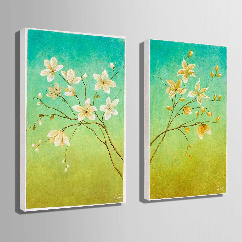 FOTEE Lienzo de Pintura al óleo Arte de la Pared, una Hermosa Flor Paisaje Decoraciones para el hogar Fondo Pintura de la Pared, Sala de Estar del Pasillo ...