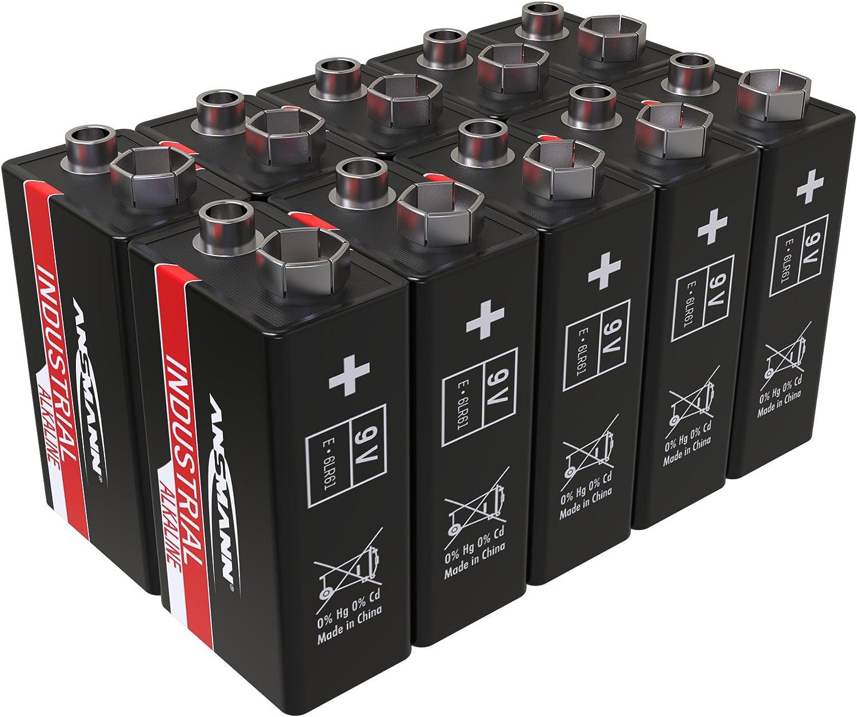 Ansmann Industrial Alkaline Batterie 9v E Block 6lr61 Elektronik