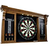 Barrington Collection Bristle Dartboard Cabinet Set: Professional Hanging Classic Sisal Dartboard - Multiple Styles Available
