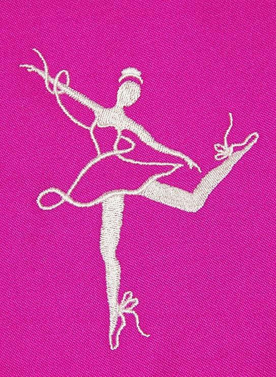Ballet personaliseitonline bordados bolsa, bolsa fucsia