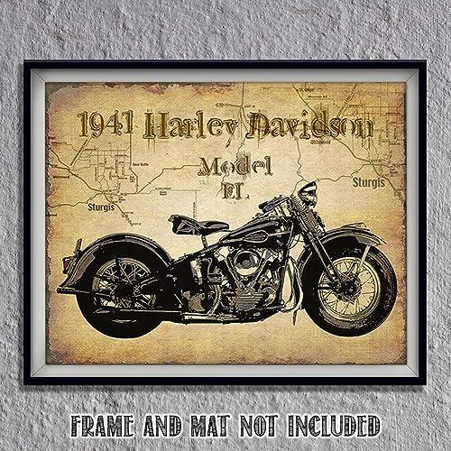 Amazon Com Harley Davidson 1941 El Model Motorcycle Vintage Print