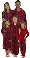 SleepytimePjs Christmas Family Matching Plaid Thermal Pajama PJs Sets for the Family
